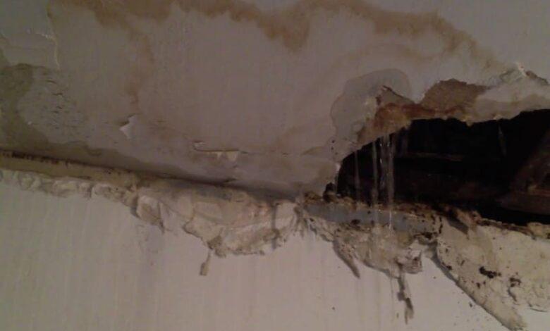 حل مشكلة تسرب المياه من السقف والجدران